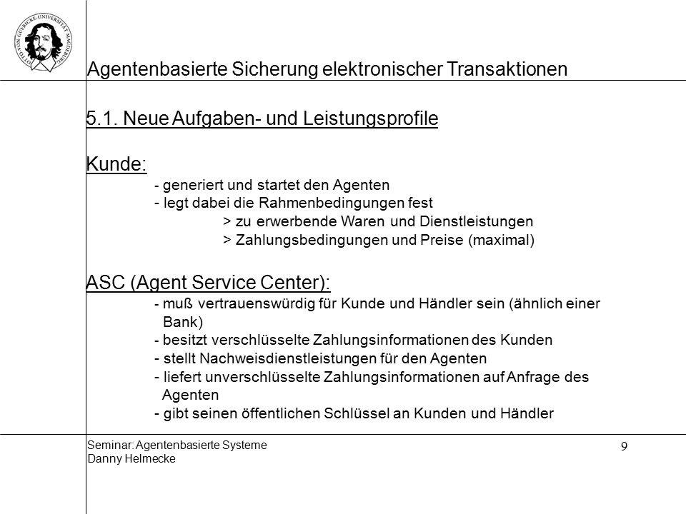 5.1. Neue Aufgaben- und Leistungsprofile Kunde: