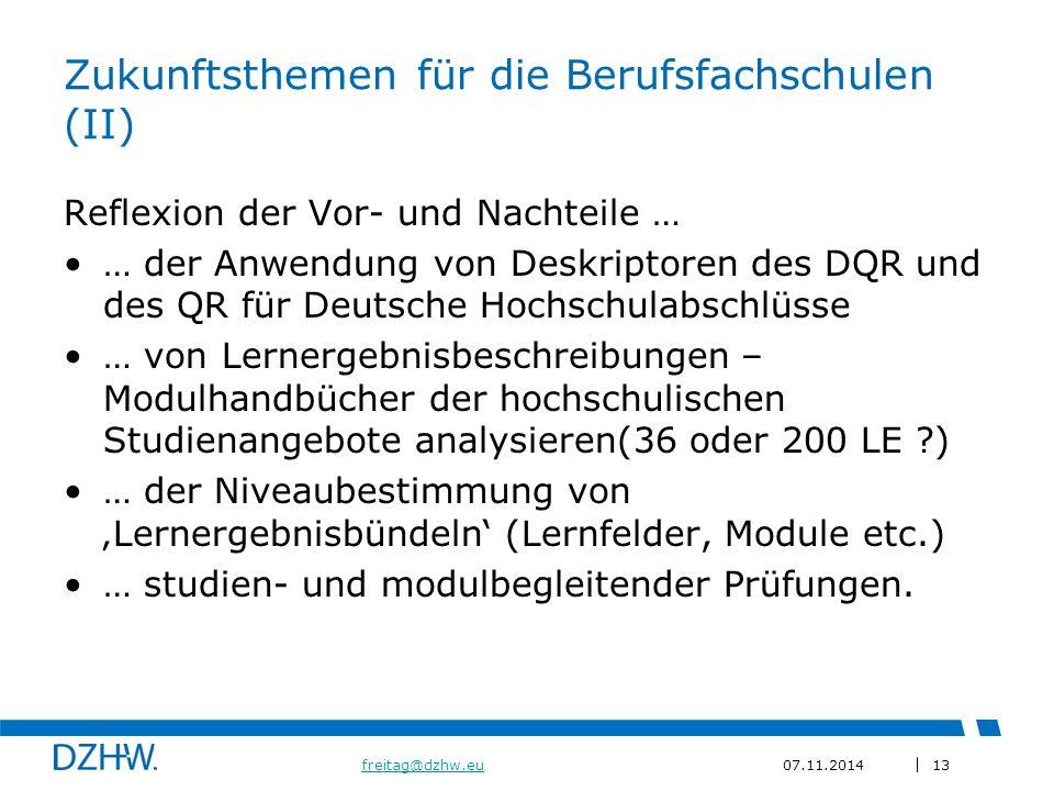 Zukunftsthemen für die Berufsfachschulen (II)