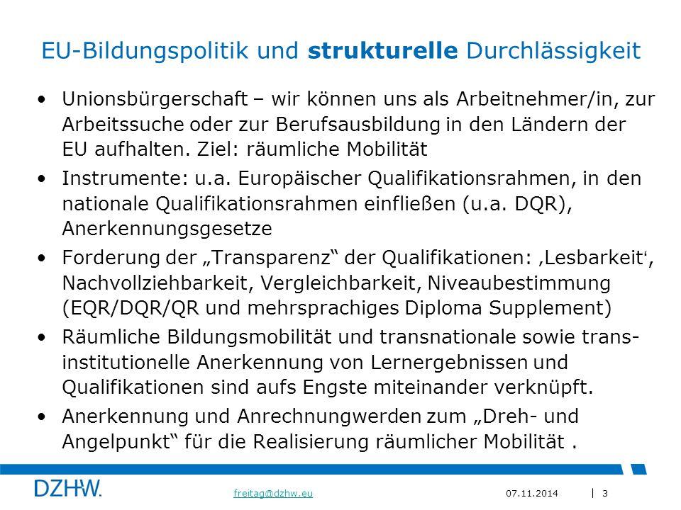 EU-Bildungspolitik und strukturelle Durchlässigkeit