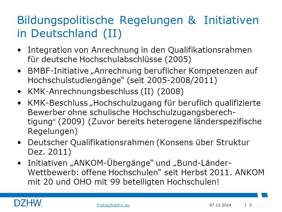 Bildungspolitische Regelungen & Initiativen in Deutschland (II)