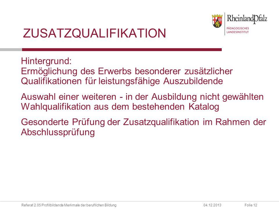 Zusatzqualifikation