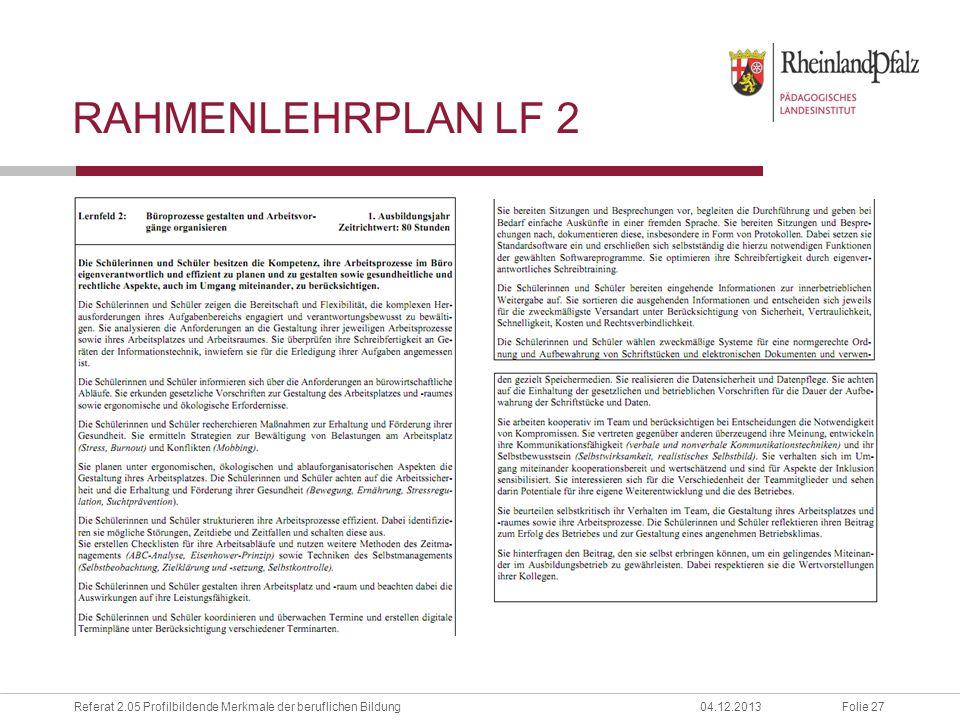 Rahmenlehrplan LF 2