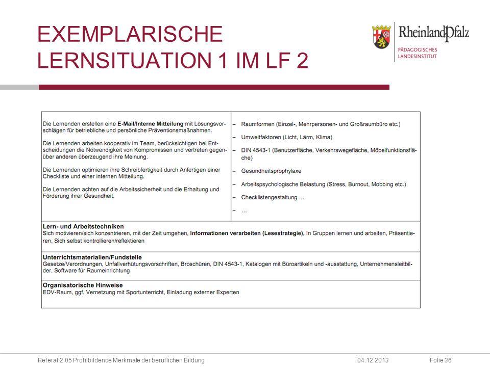 Exemplarische lernsituation 1 im lf 2