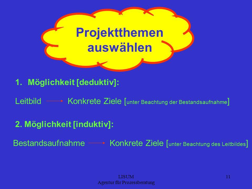 Projektthemen auswählen