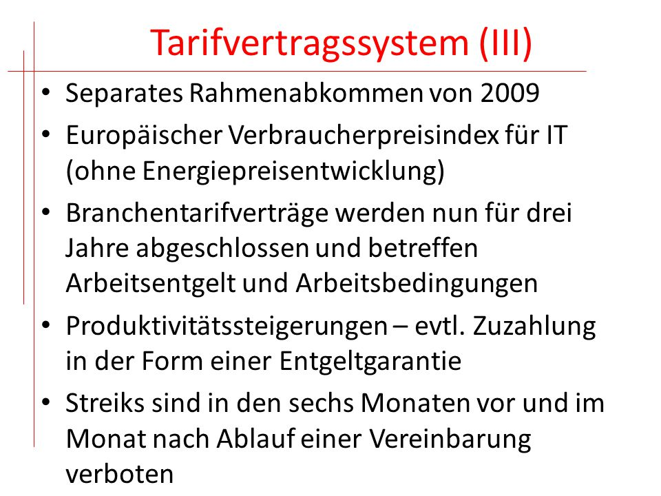 Tarifvertragssystem (III)