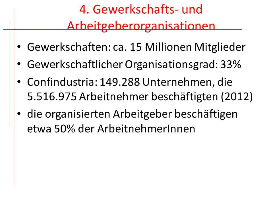 4. Gewerkschafts- und Arbeitgeberorganisationen