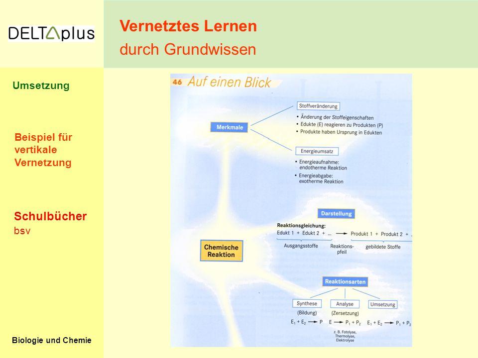 Vernetztes Lernen durch Grundwissen Schulbücher Umsetzung