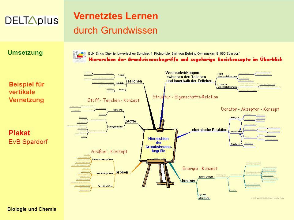 Vernetztes Lernen durch Grundwissen Plakat Umsetzung