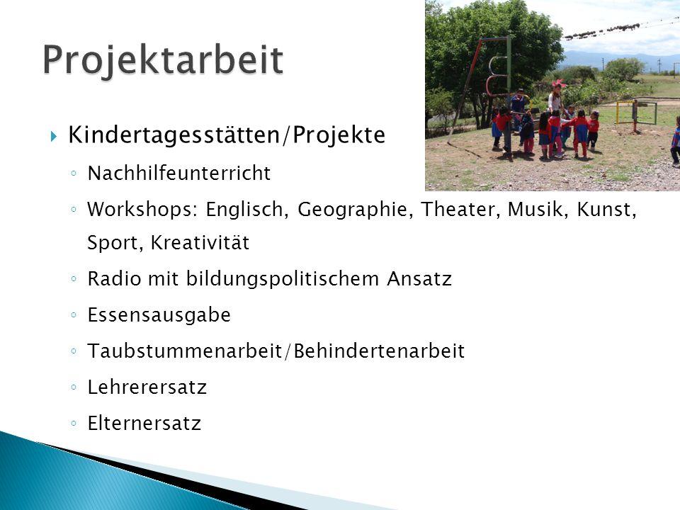 Projektarbeit Kindertagesstätten/Projekte Nachhilfeunterricht