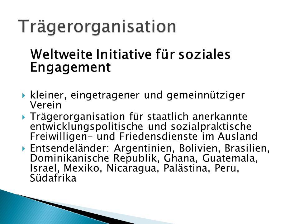 Trägerorganisation Weltweite Initiative für soziales Engagement