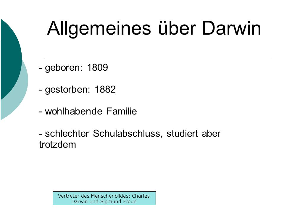 Allgemeines über Darwin