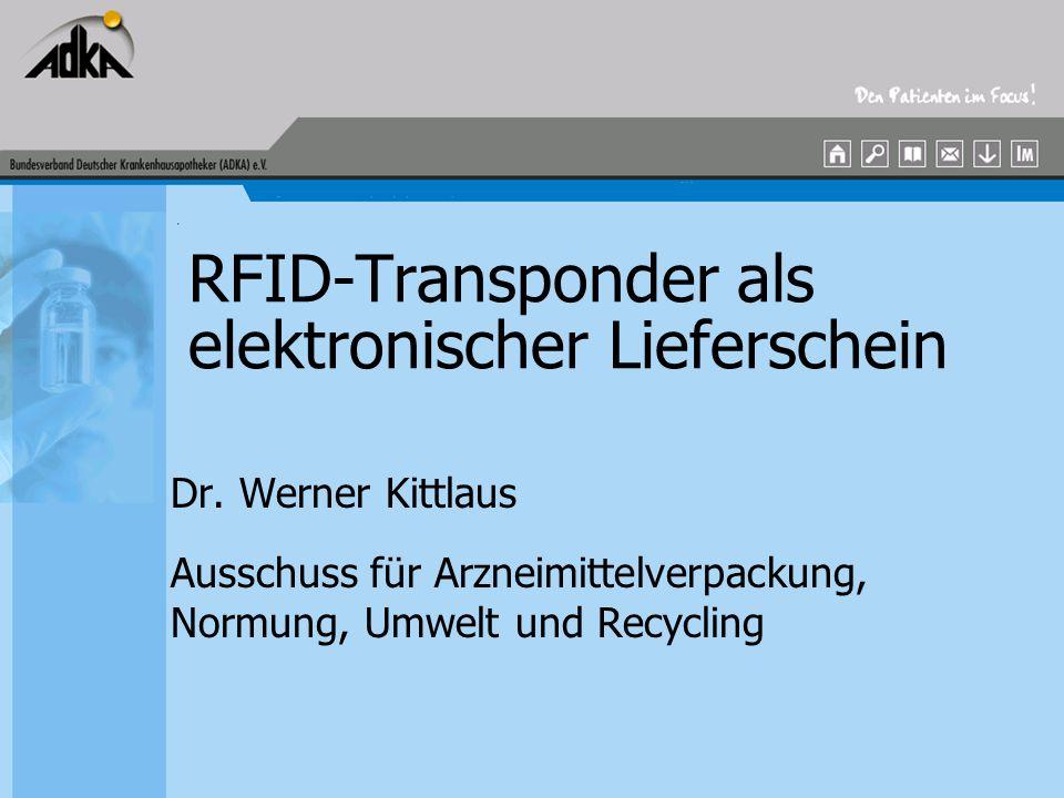 RFID-Transponder als elektronischer Lieferschein