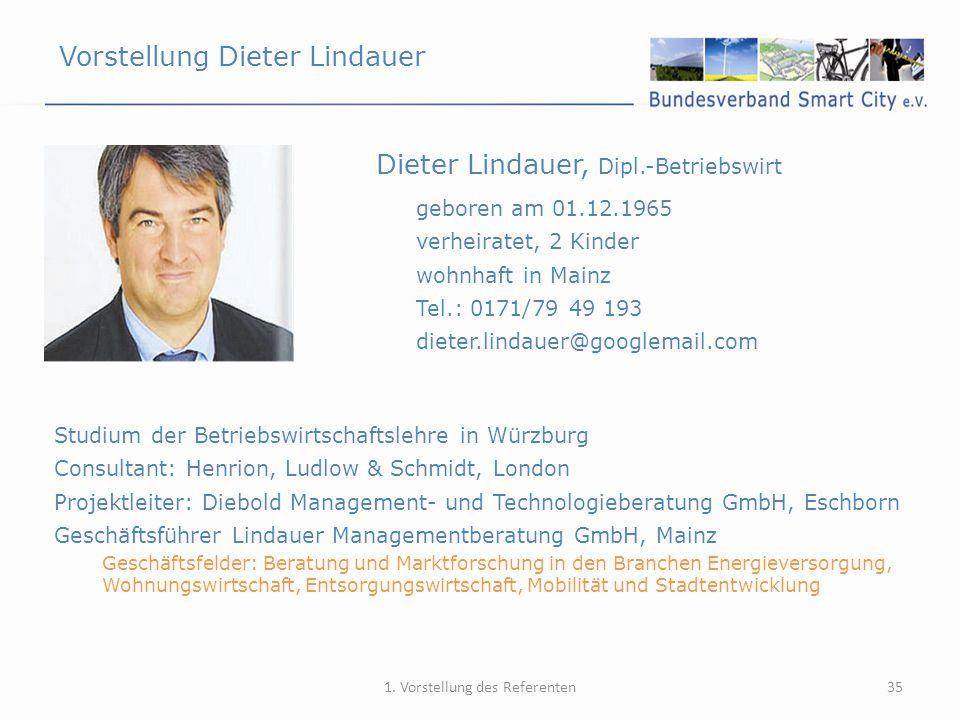 Vorstellung Dieter Lindauer