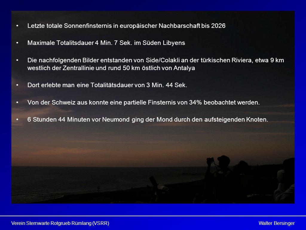 Letzte totale Sonnenfinsternis in europäischer Nachbarschaft bis 2026