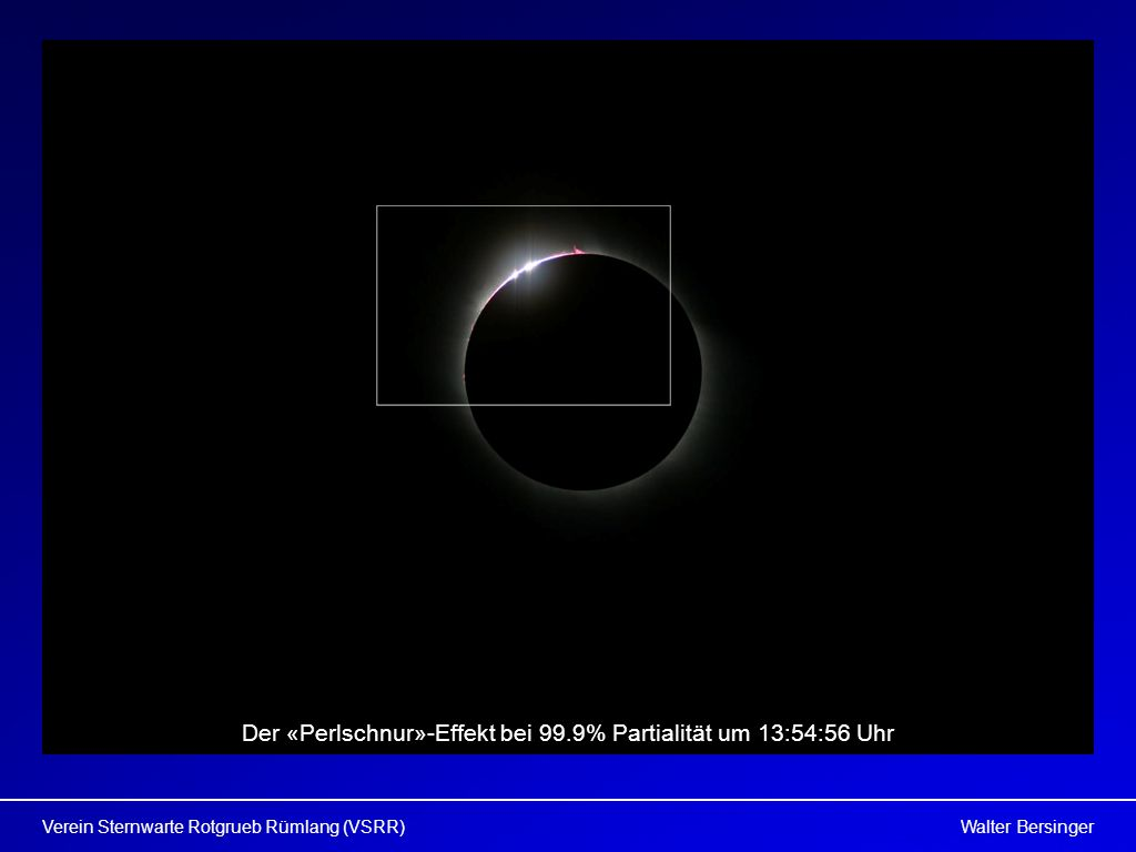 Der «Perlschnur»-Effekt bei 99.9% Partialität um 13:54:56 Uhr