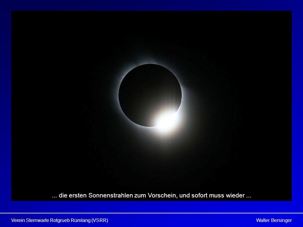 ... die ersten Sonnenstrahlen zum Vorschein, und sofort muss wieder ...