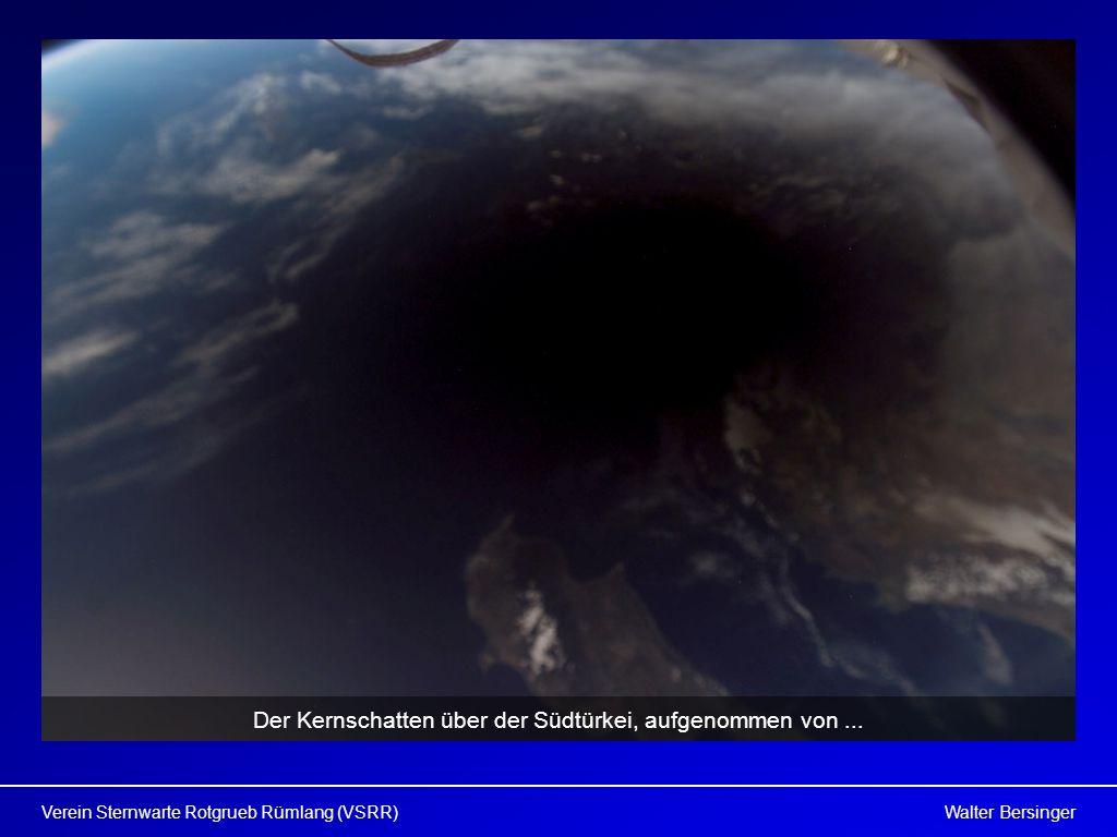 Der Kernschatten über der Südtürkei, aufgenommen von ...