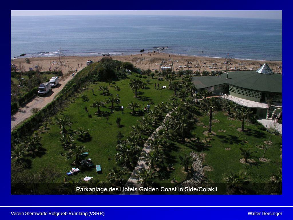 Parkanlage des Hotels Golden Coast in Side/Colakli
