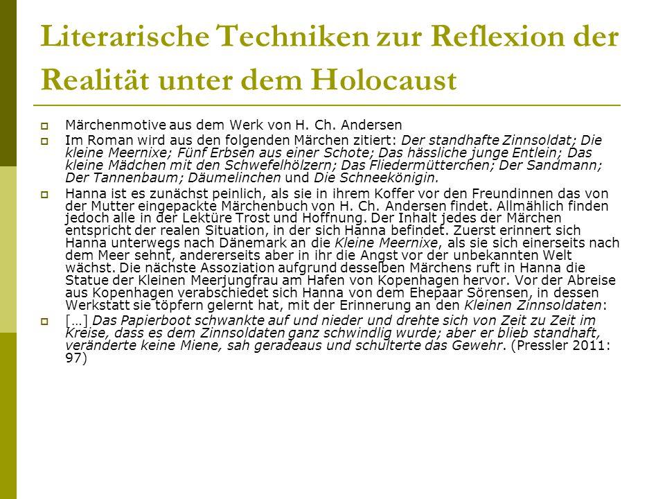 Literarische Techniken zur Reflexion der Realität unter dem Holocaust