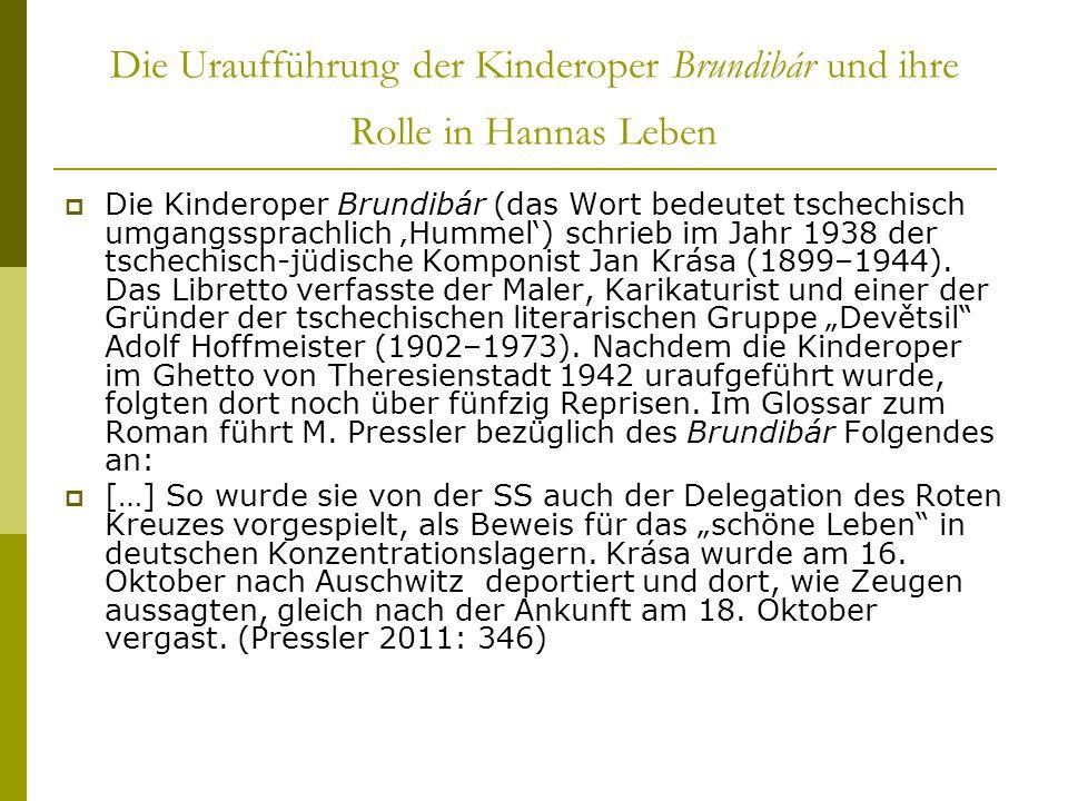 Die Uraufführung der Kinderoper Brundibár und ihre Rolle in Hannas Leben