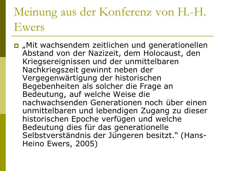 Meinung aus der Konferenz von H.-H. Ewers