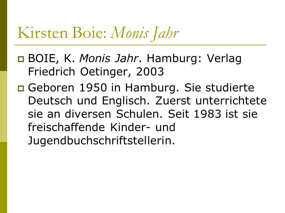 Kirsten Boie: Monis Jahr