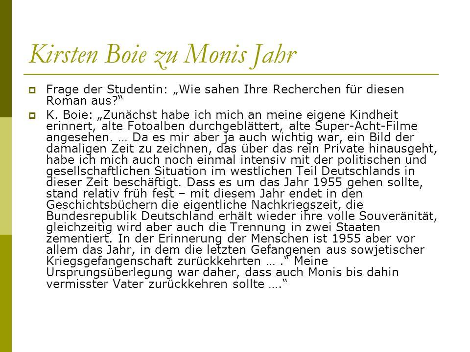 Kirsten Boie zu Monis Jahr