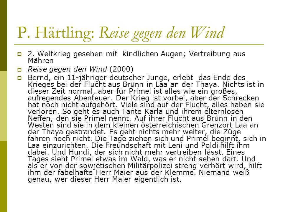 P. Härtling: Reise gegen den Wind