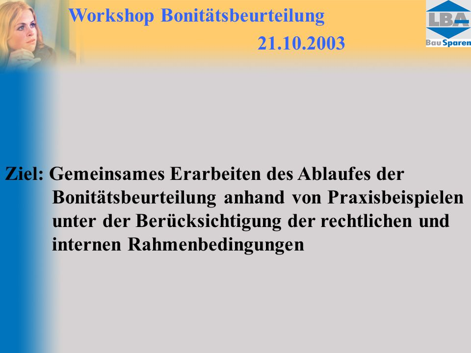 Workshop Bonitätsbeurteilung