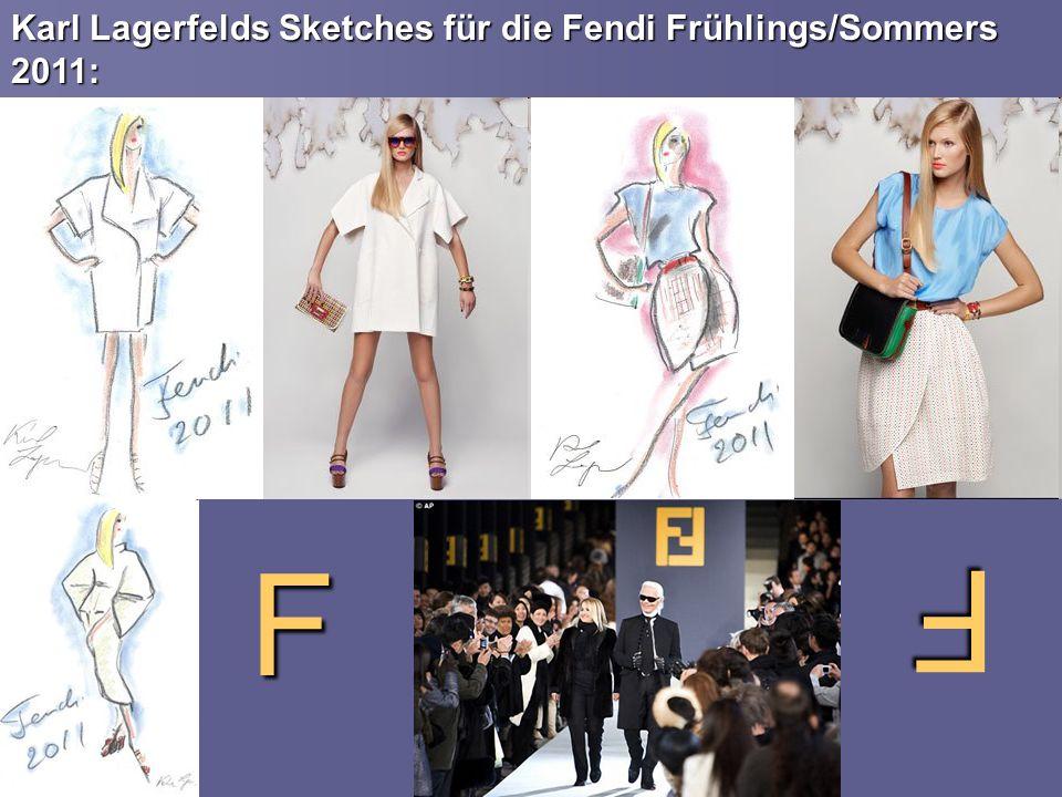 Karl Lagerfelds Sketches für die Fendi Frühlings/Sommers 2011: