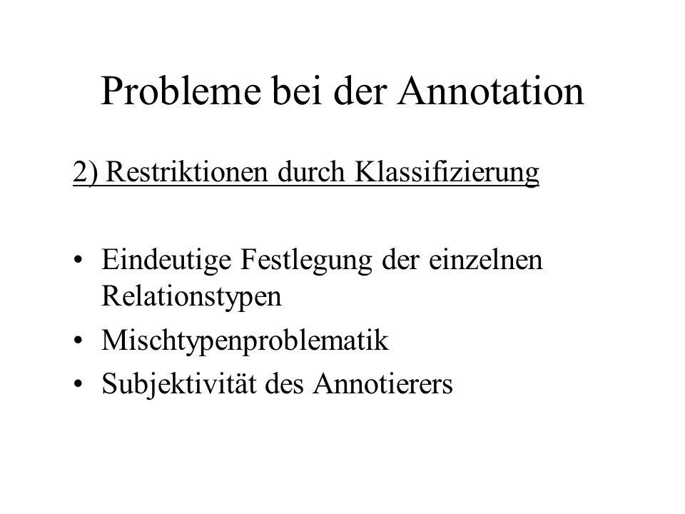 Probleme bei der Annotation
