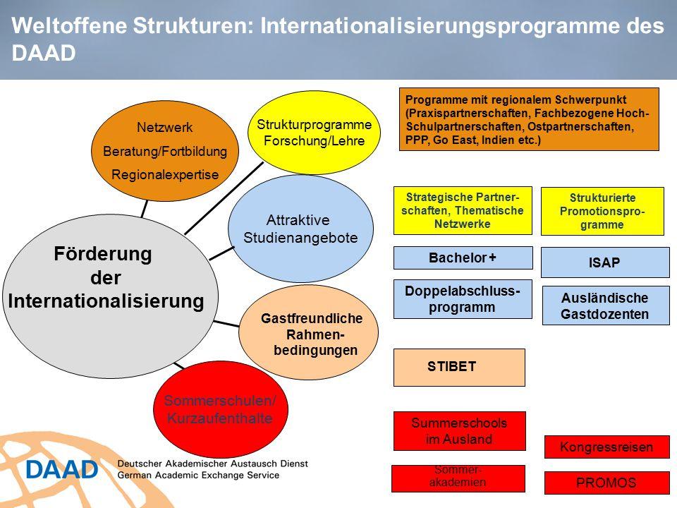 Weltoffene Strukturen: Internationalisierungsprogramme des DAAD