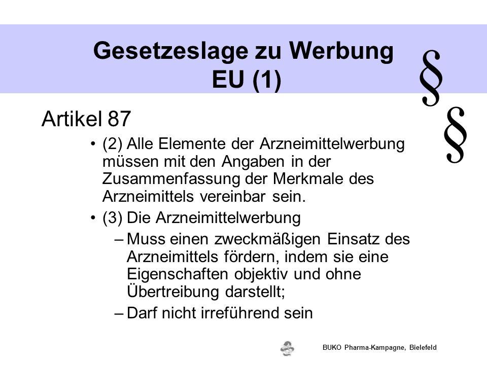 Gesetzeslage zu Werbung EU (1)