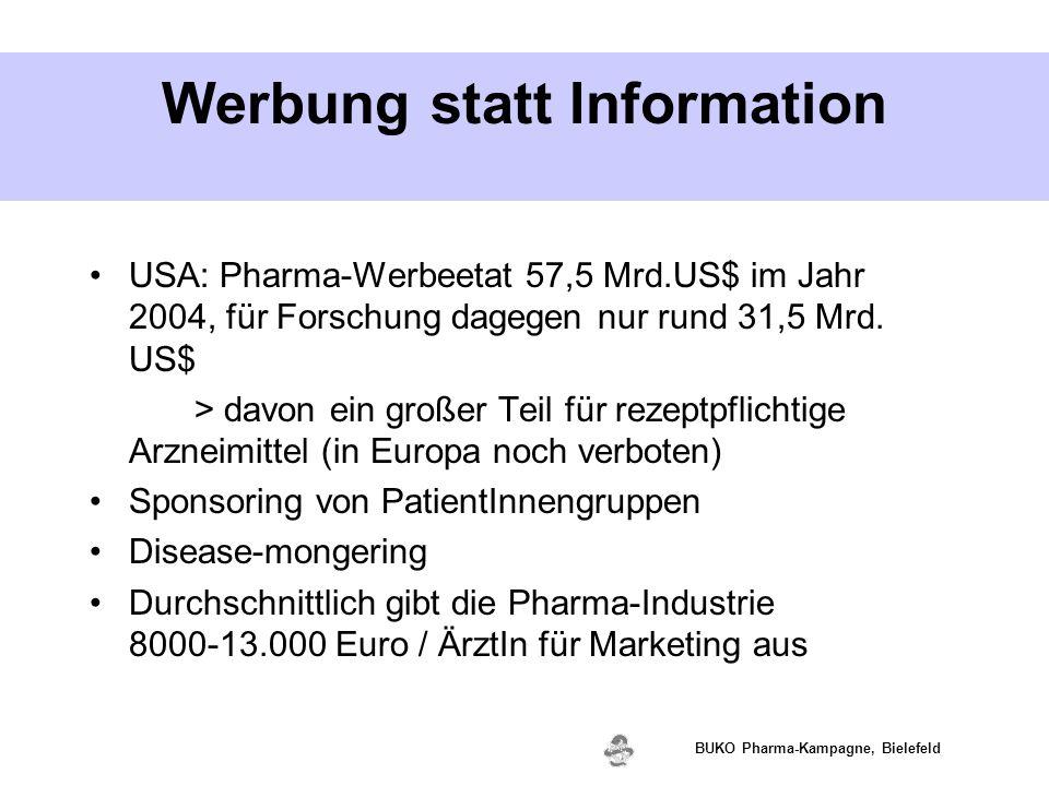 Werbung statt Information