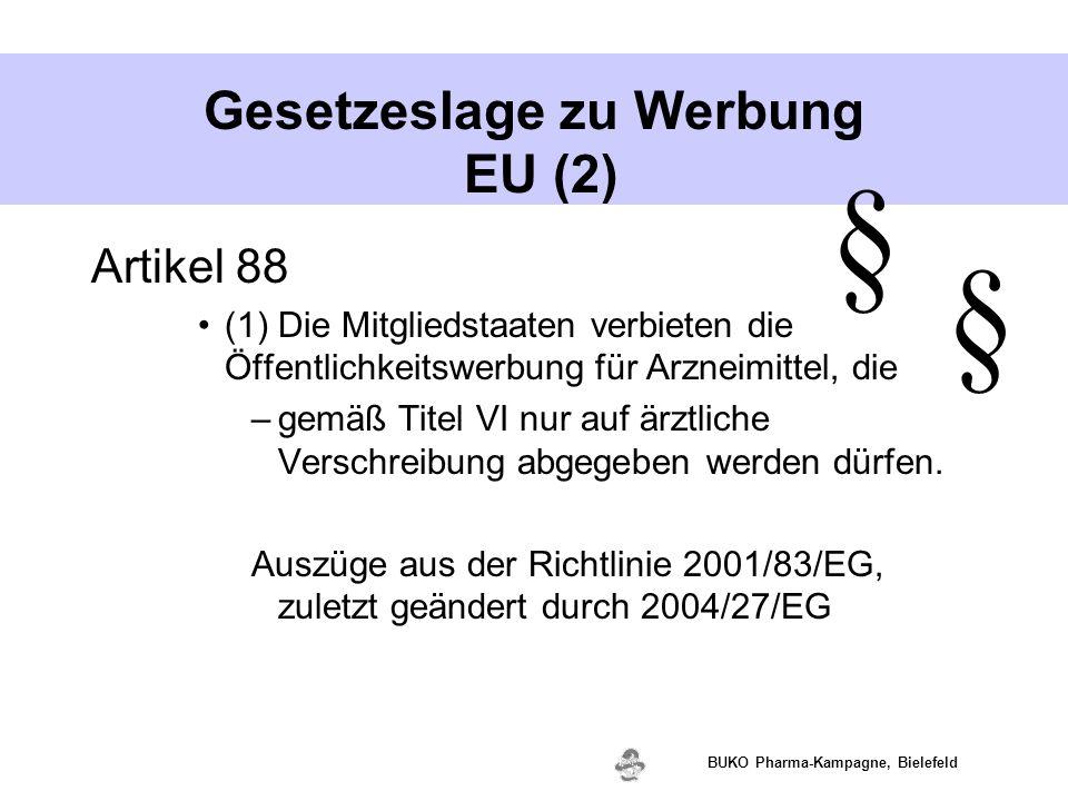 Gesetzeslage zu Werbung EU (2)