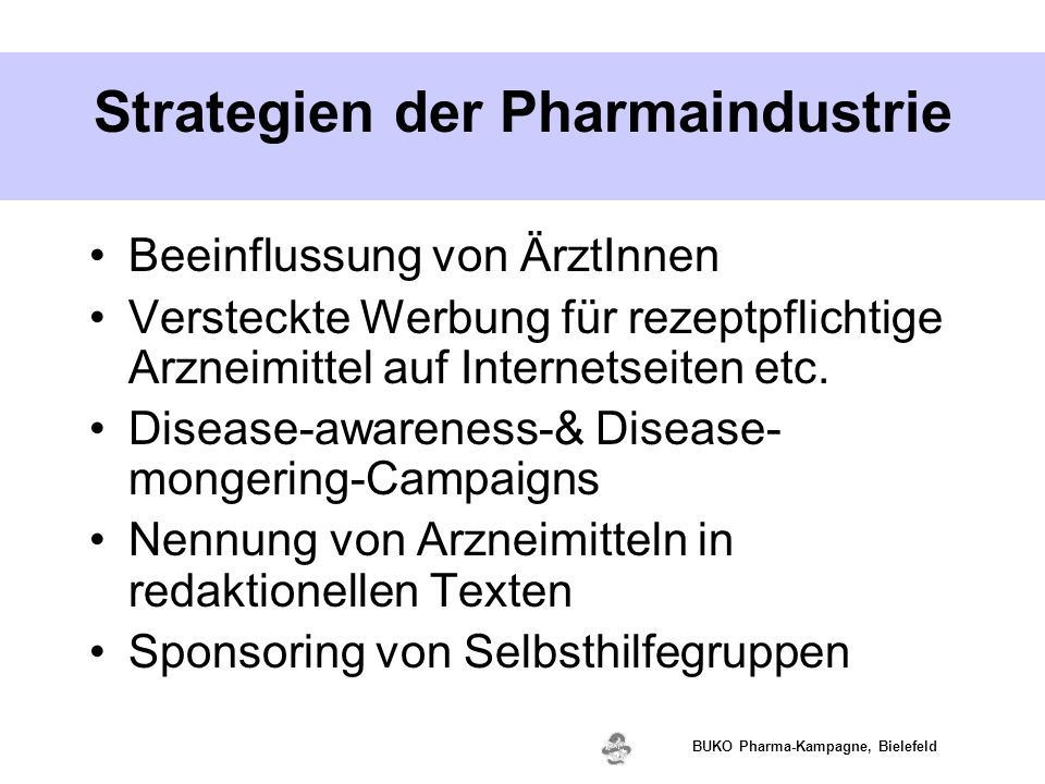 Strategien der Pharmaindustrie