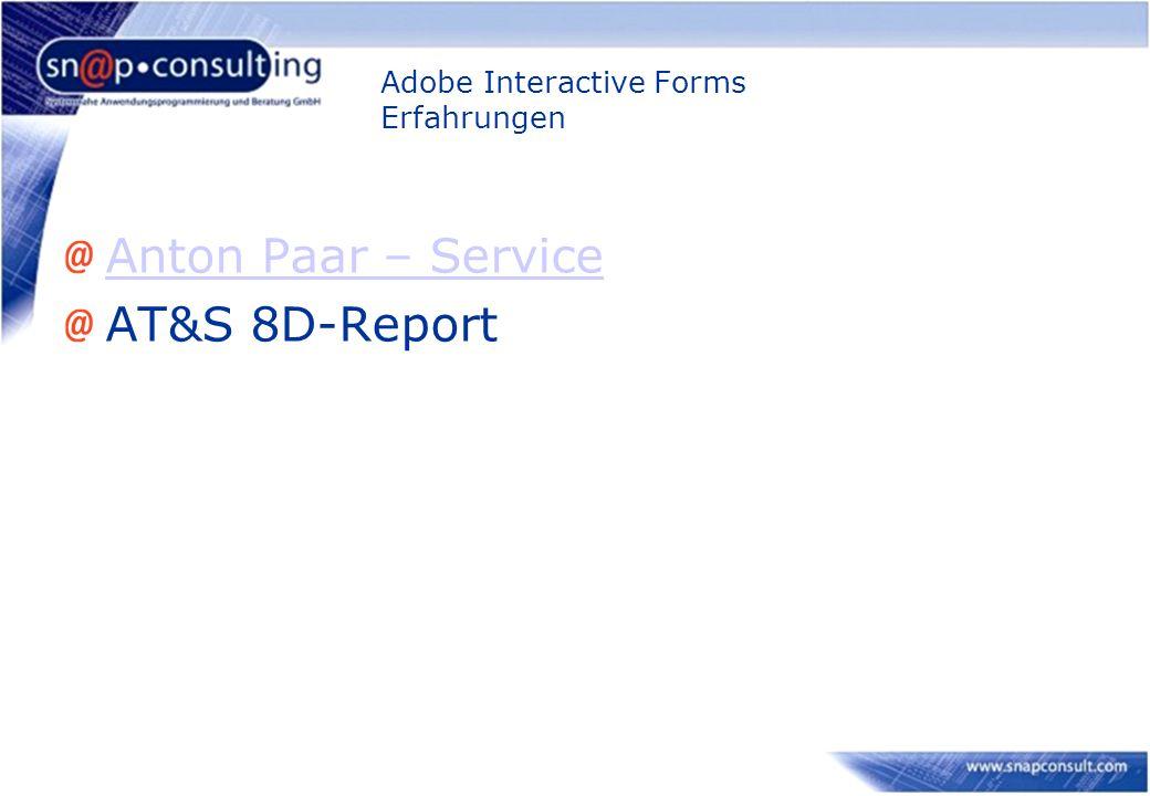 Adobe Interactive Forms Erfahrungen