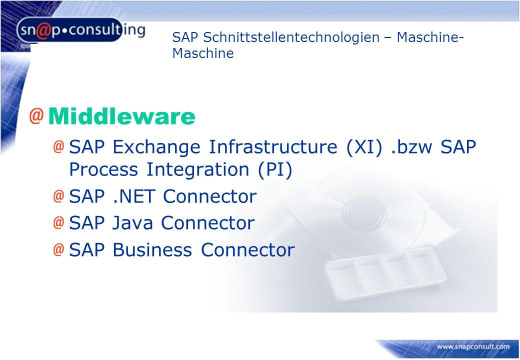SAP Schnittstellentechnologien – Maschine-Maschine