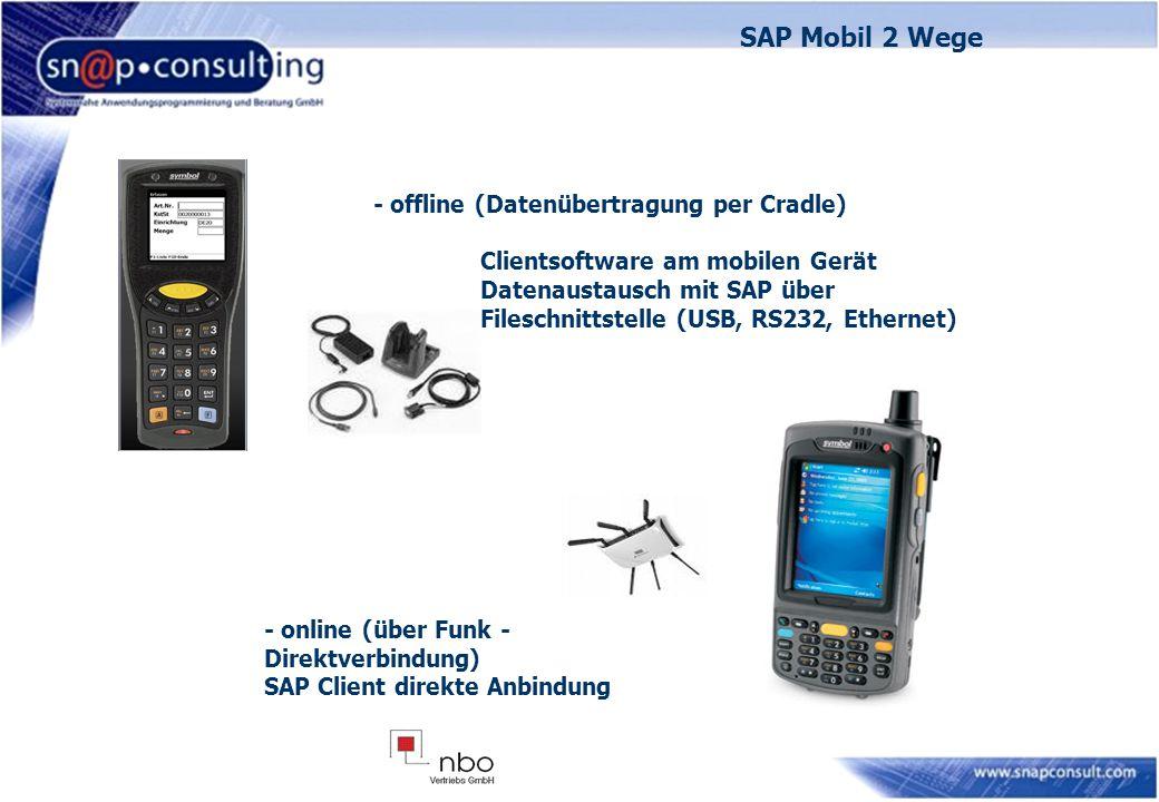 SAP Mobil 2 Wege - offline (Datenübertragung per Cradle)