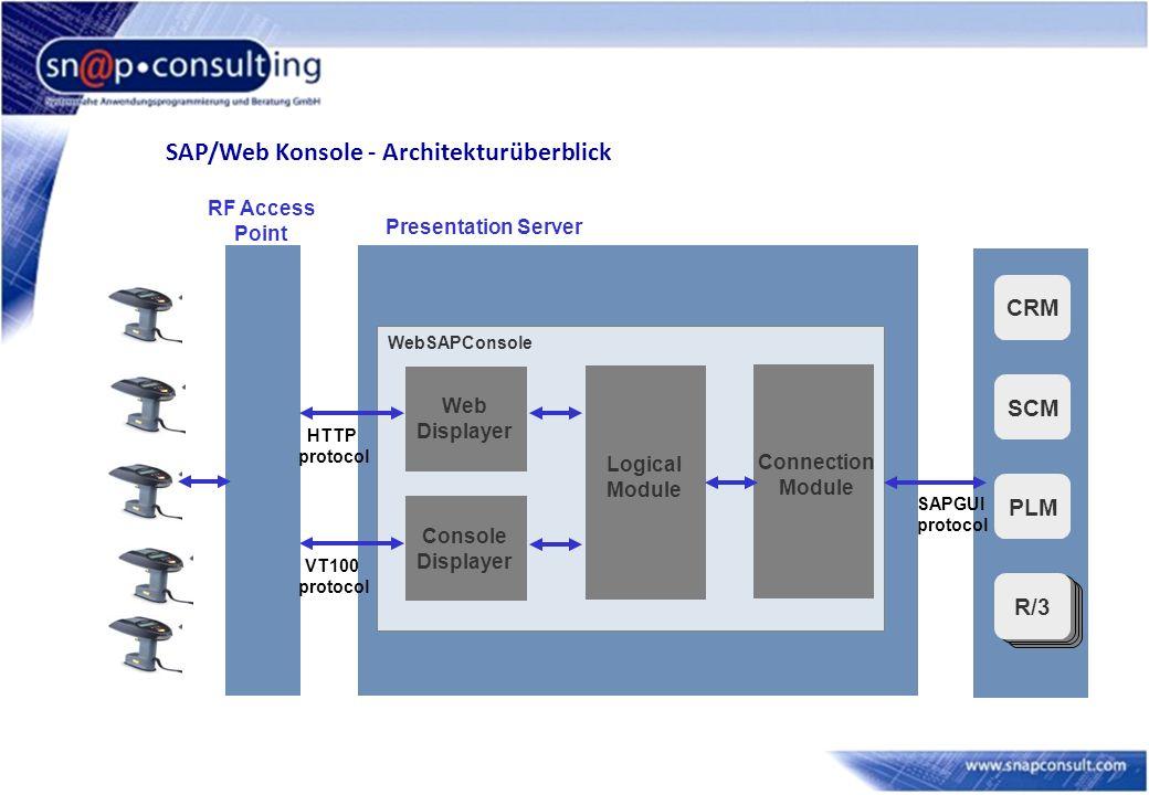 SAP/Web Konsole - Architekturüberblick