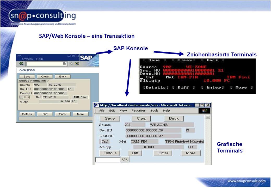 SAP/Web Konsole – eine Transaktion