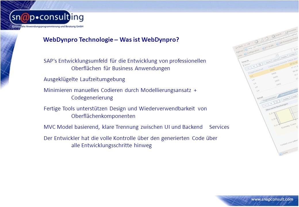 WebDynpro Technologie – Was ist WebDynpro