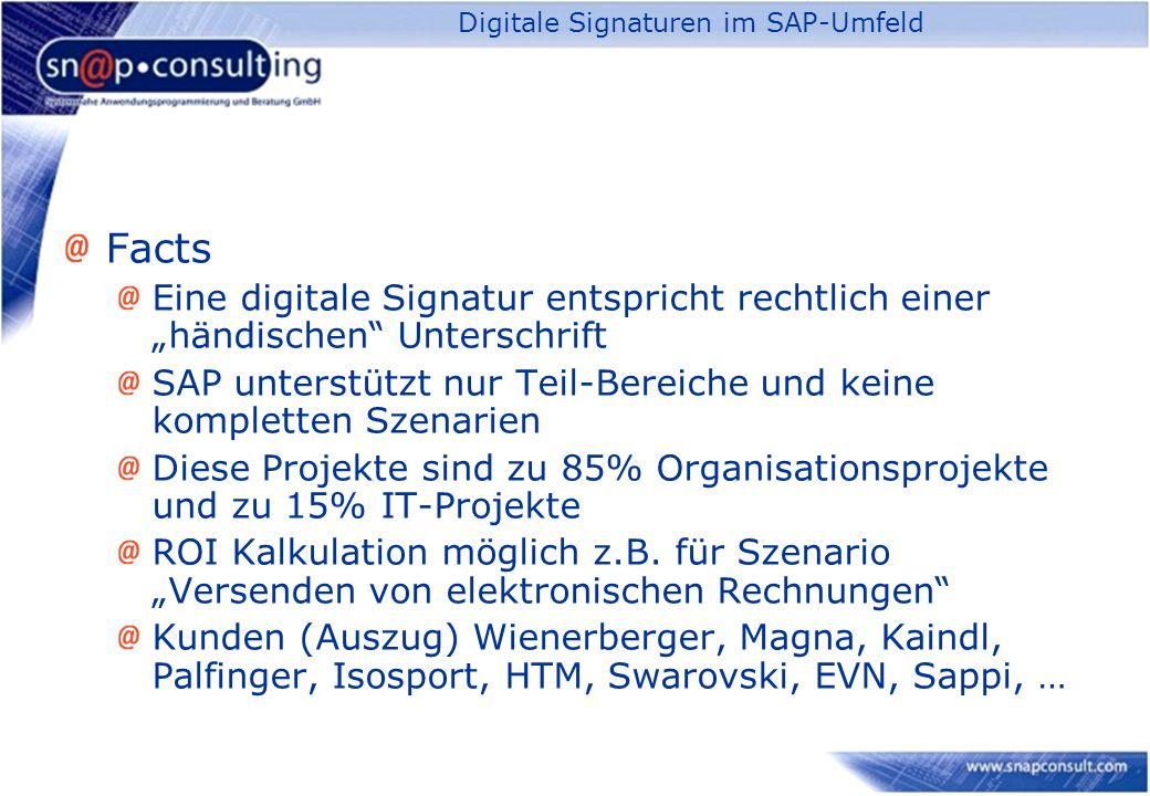 Digitale Signaturen im SAP-Umfeld