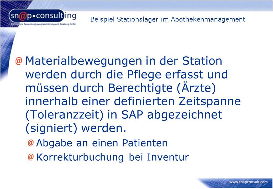 Beispiel Stationslager im Apothekenmanagement