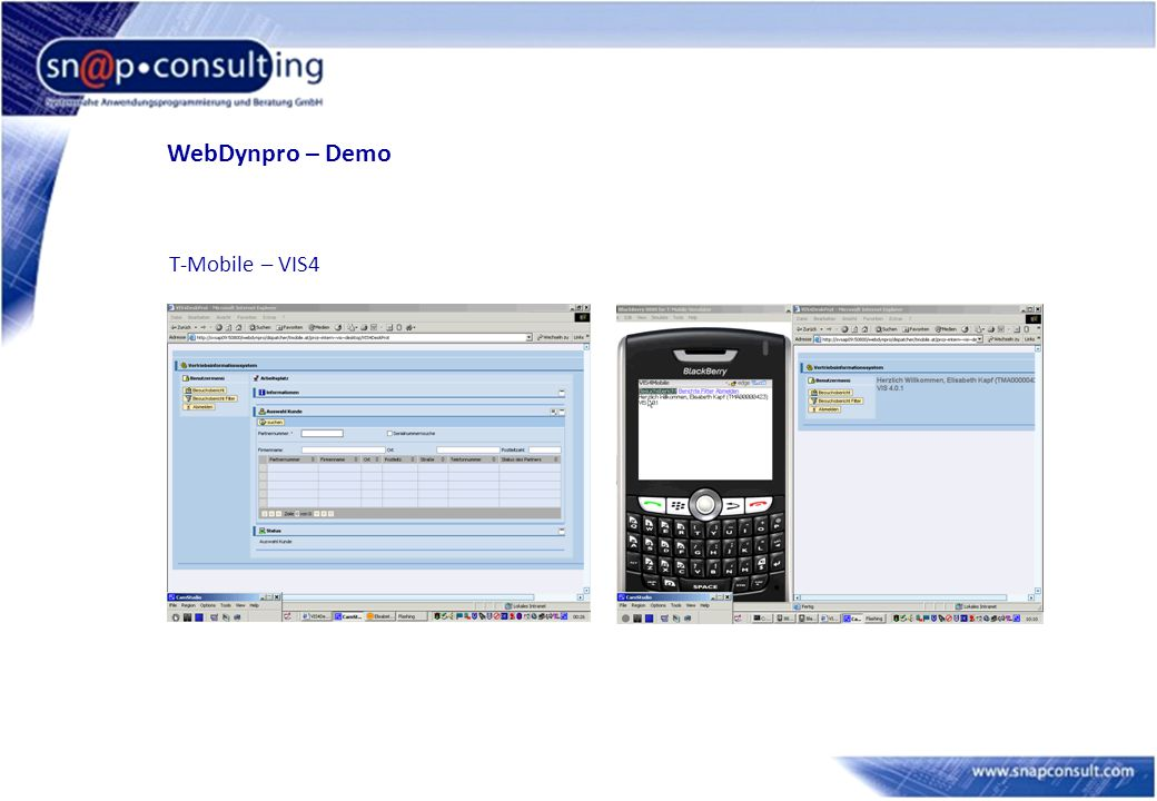 WebDynpro – Demo T-Mobile – VIS4 5
