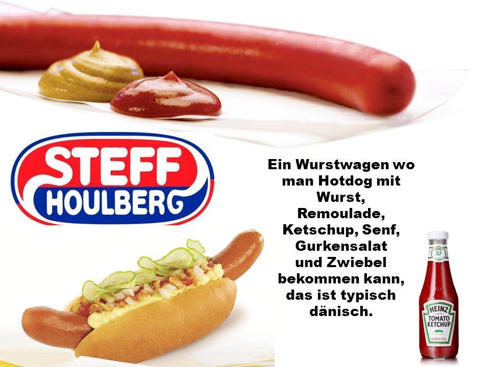 Ein Wurstwagen wo man Hotdog mit Wurst,