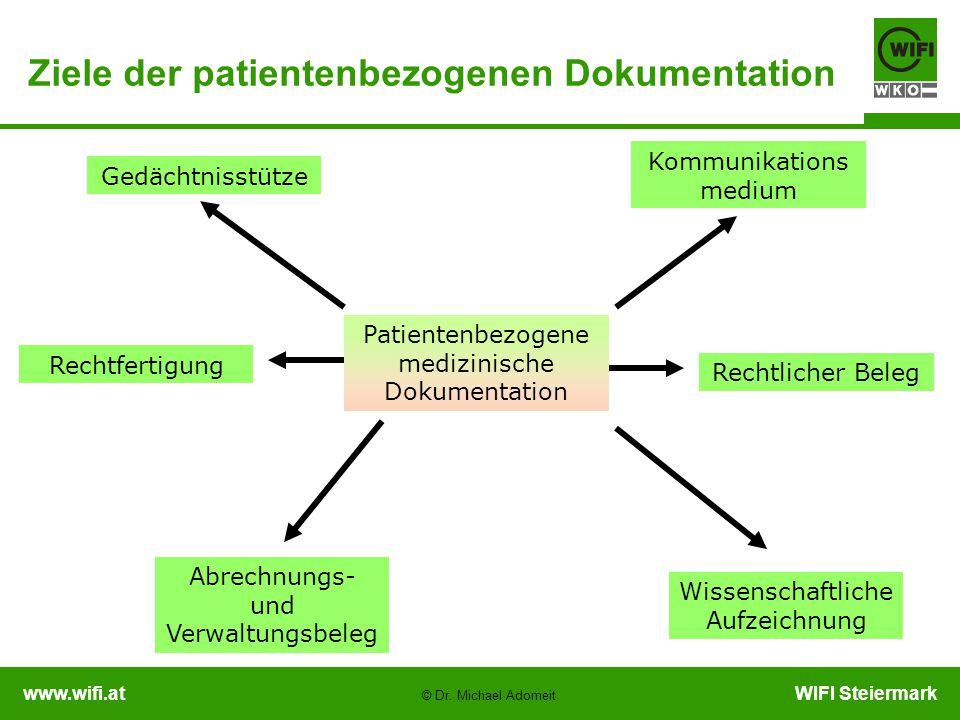 Ziele der patientenbezogenen Dokumentation