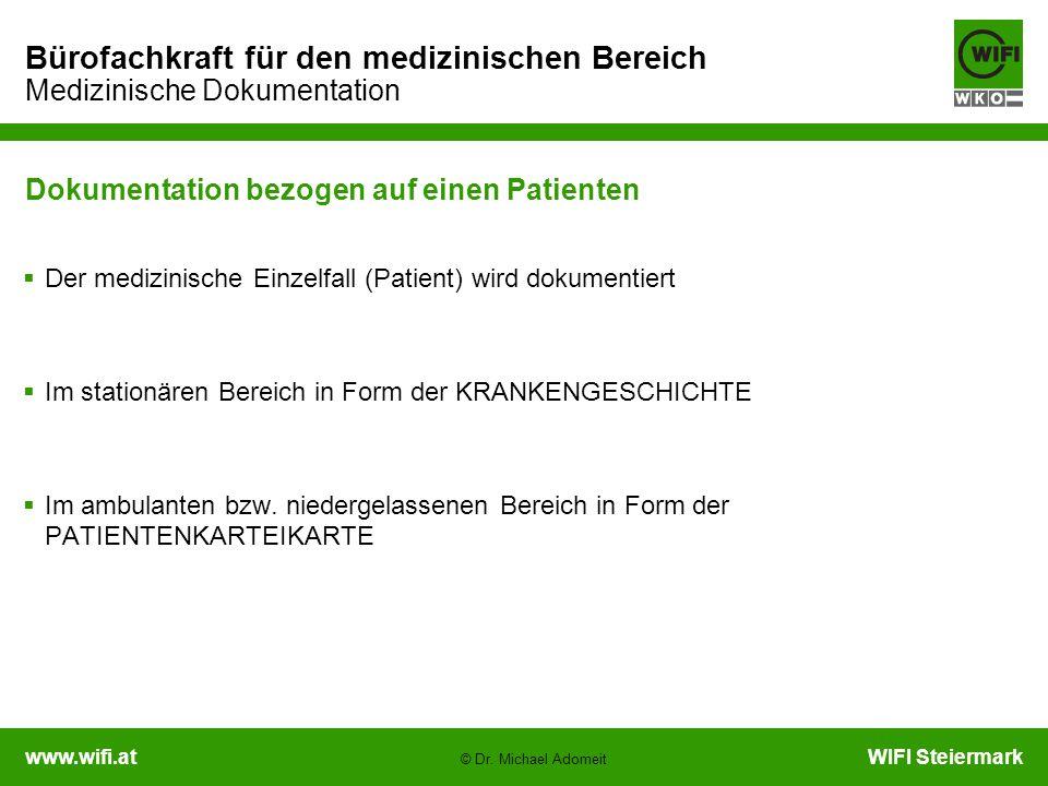 Dokumentation bezogen auf einen Patienten
