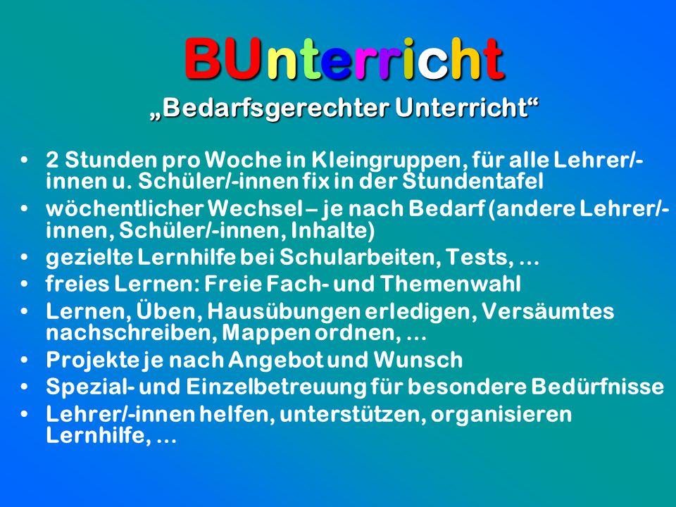 """""""Bedarfsgerechter Unterricht"""