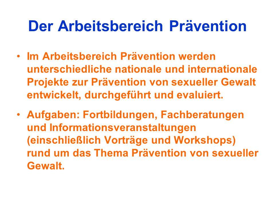 Der Arbeitsbereich Prävention